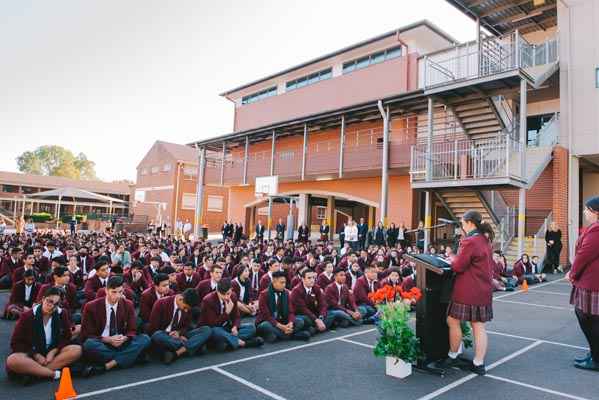 Holy Spirit Lakemba students at school assembly